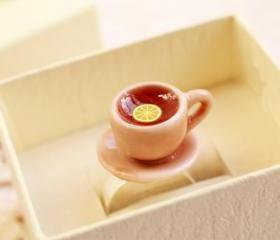 Teacup ring, tea cup ring, kawaii food ring, mini food ring
