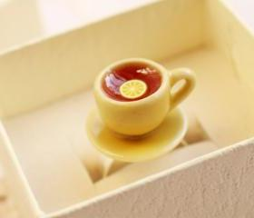 Teacup ring, tea cup ring, cute ring, miniature food ring